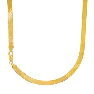 Mcs Jewelry Inc 14 KARAT YELLOW GOLD SOLID FLEXIBLE SILKY IMPERIAL HERRINGBONE NECKLACE (3MM)