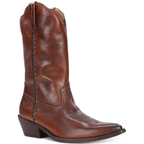 Patricia Nash Womens Bergamo Leather Pointed Toe Mid-Calf Cowboy Boots - 6