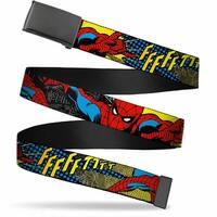 Marvel Comics blank Black  Buckle Spider Man Ffffftttt Webbing Web Belt