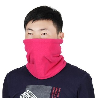 Adjustable Face Mask Winter Neck Tube Protector Outdoor Cycling Scarf Fuchsia