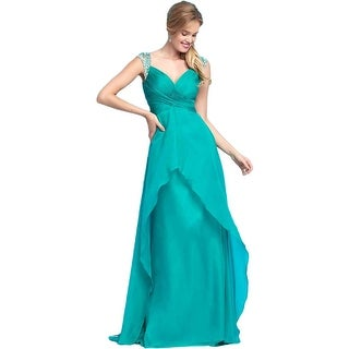 Mac Duggal Womens Formal Dress Chiffon Embellished
