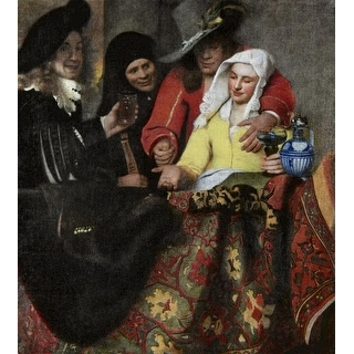 Easy Art Prints Johannes Vermeer's 'The Procuress' Premium Canvas Art
