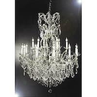 Swarovski Crystal Trimmed Chandelier! Chandelier Crystal Lighting Chandeliers - Silver