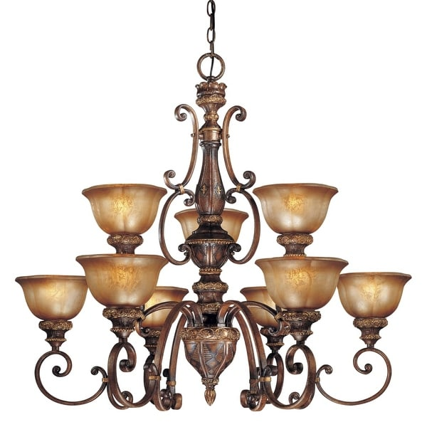 Minka Lavery ML 1358 9 Light 2 Tier Chandelier from the Illuminati Collection
