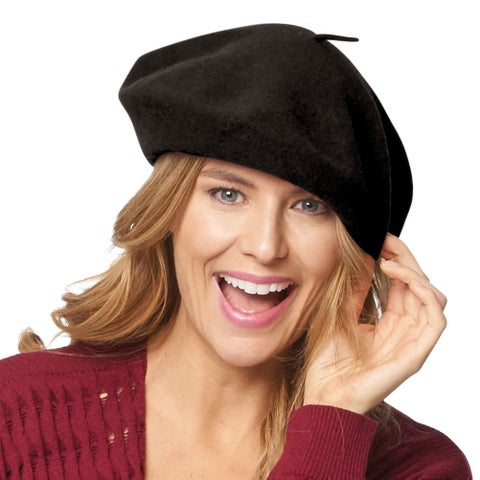 Women's Basque Beret - 100% Wool French Hat Cap