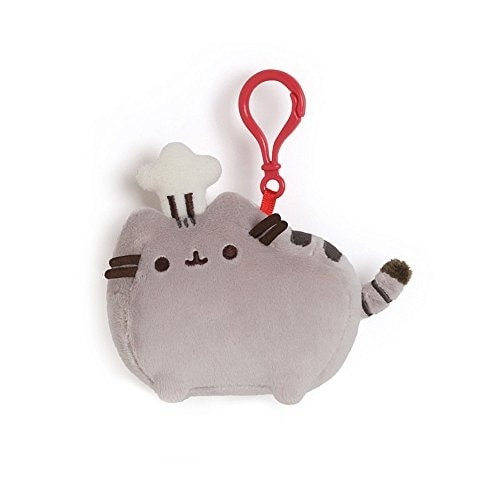 GUND Pusheen Chef Hat Backpack Clip Stuffed Animal