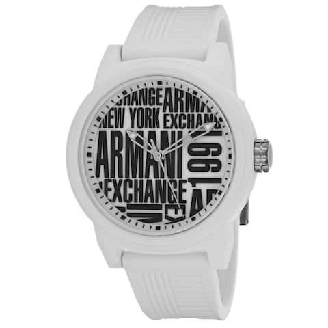 Armani Exchange Men's Classic White with Black Armani Exchange Design Dial Watch