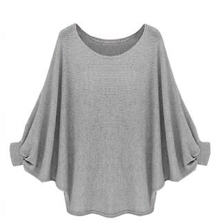 QZUnique Women Sleeves Pullover Loose Sweater Blouse T-Shirt Top