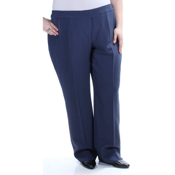 4f1c0b8a3496 Shop ANNE KLEIN Womens Navy Straight leg Wear To Work Pants Plus Size  22 –  Free Shipping On Orders Over  45 – Overstock.com – 23457559