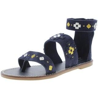 Soludos Womens Gladiator Sandals Suede Studded - 8 medium (b,m)