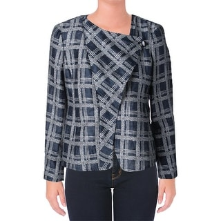 Armani Womens Jacket Textured Plaid - 6