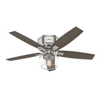 "Link to Hunter 52"" Bennett Low Profile Ceiling Fan with Globe LED Light Kit and Handheld Remote Similar Items in Ceiling Fans"