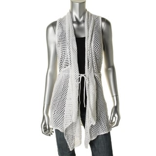 Hooked Up by IOT Womens Juniors Crochet Shawl Collar Cardigan Sweater - XL