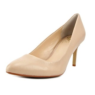 Vince Camuto Lamira Women Round Toe Leather Nude Heels