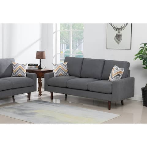 Carson Carrington Ludviki Dark Grey Woven Fabric Sofa Couch