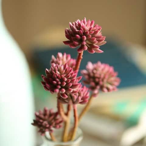 """RusticReach Artificial Succulent Stem in Purple Red 13"""" Tall"""