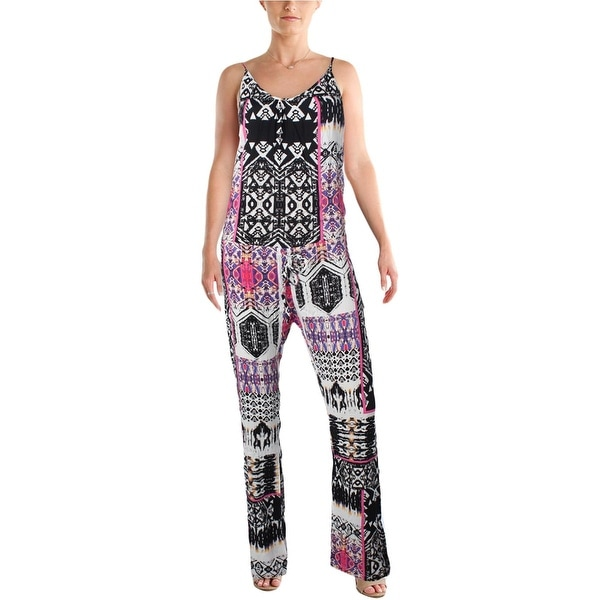 Felicite Womens Jumpsuit Printed Drawstring