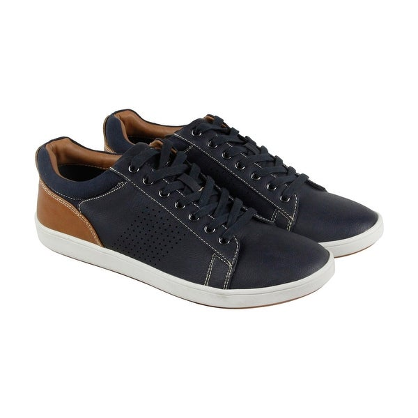 bc2f28170b4 Shop Steve Madden Fisk Mens Blue Leather Lace Up Sneakers Shoes ...