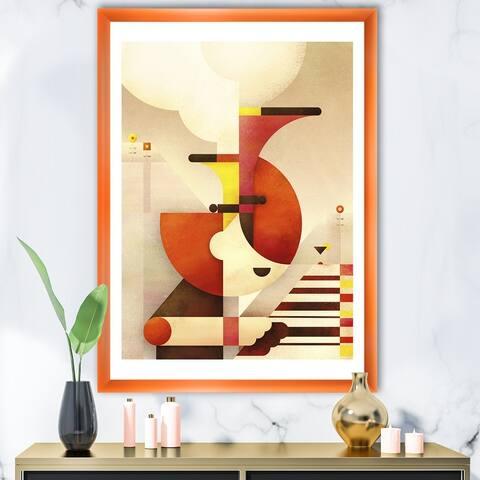 Designart 'All That Jazz' Mid-Century Modern Premium Framed Art Print