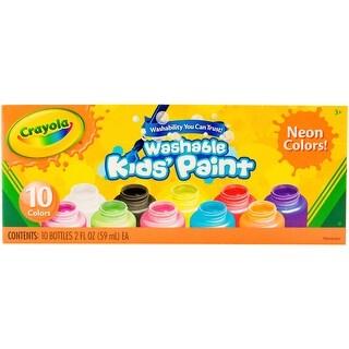 Crayola Washable Kids Paint 2oz 10/Pkg-Neon