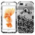 Insten Lace Flowers Tuff Hard PC/ Silicone Dual Layer Hybrid Rubberized Matte Case Cover For Apple iPhone 7 Plus - Thumbnail 0