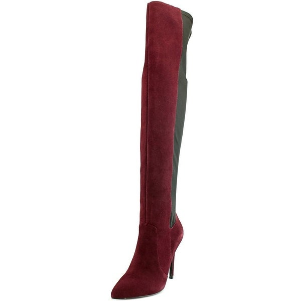 Charles By Charles David Paso Women Suede Burgundy Over the Knee Boot