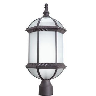 Woodbridge Lighting 61035WL-RTP Glenwood 1 Light Energy Saving Post Light with Power Coat Rust Finish