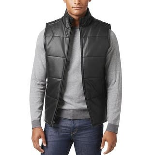 Calvin Klein Full Zip Mock Neck Faux Leather Quilted Vest Black Medium M|https://ak1.ostkcdn.com/images/products/is/images/direct/a6eea4745aaf762331743ec31223850b2822d4d2/Calvin-Klein-Full-Zip-Mock-Neck-Faux-Leather-Quilted-Vest-Black-Medium-M.jpg?impolicy=medium