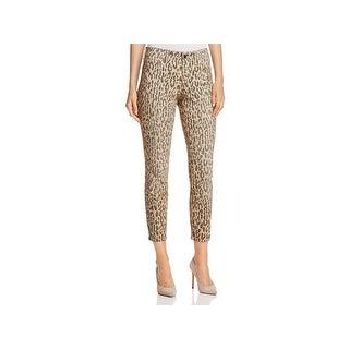 NYDJ Womens Alina Ankle Jeans Denim Animal Print