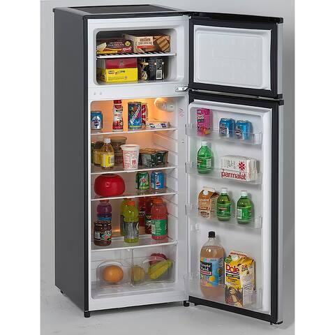 Avanti RA7316PST 2-Door Apartment Size Refrigerator, Black with Platinum Finish - Stainless Steel