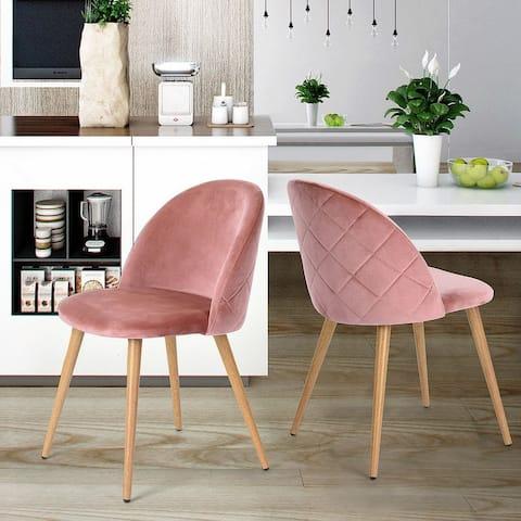Velet Dining Chair In Wooden Transfer Legs(Set Of 2)