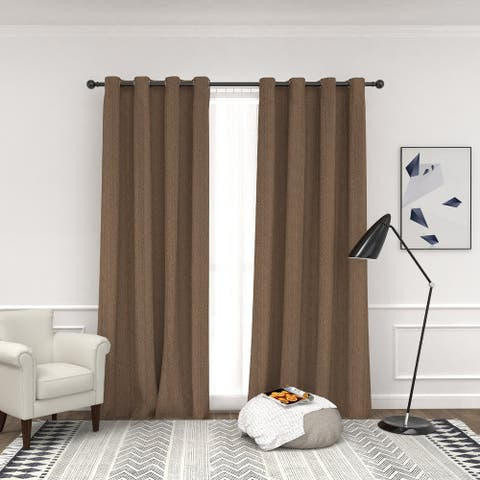 Amarantos Window Curtain Panels with Grommets Blackout Drape Curtain Divider Thermal Insulated, Noise Reducing
