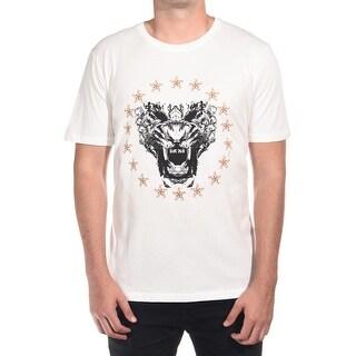 Just Cavalli Men Growl T-Shirt Cream