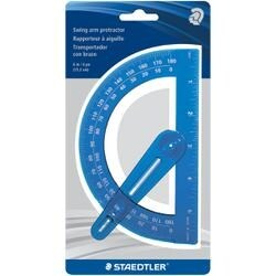 """6"""" - Plastic Protractor With Swing Arm"""