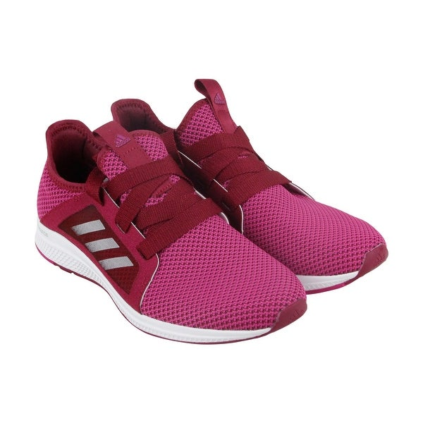 Adidas Edge Lux Womens Pink Nylon Athletic Lace Up Running Shoes
