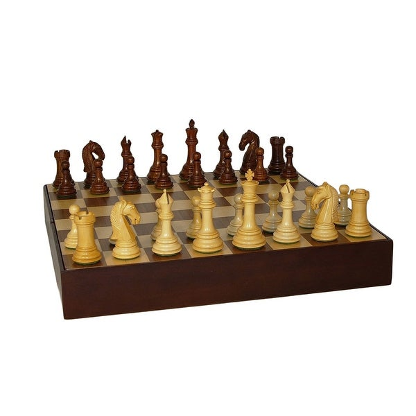 Sheesham Camelot Chess Set Walnut Chest Chess Set - Multicolored