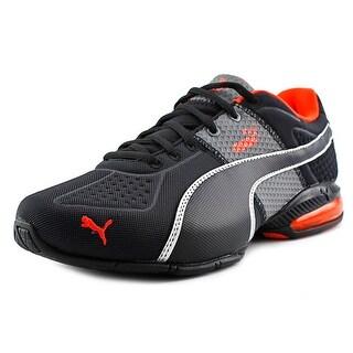 Puma Cell Surin Deboss Men Round Toe Canvas Black Running Shoe