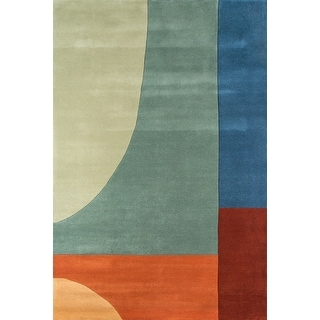 """Momeni New Wave Multicolor Hand-Tufted and Hand-Carved Wool Rug - Multi - 9'6"""" x 13'6"""""""