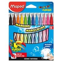 Maped Color'Peps Jungle Fine Tip Washable Markers, Set of 12