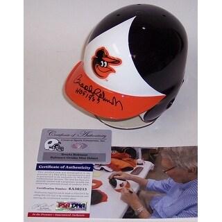 Brooks Robinson Autographed Hand Signed Baltimore Orioles Mini Helmet  PSADNA