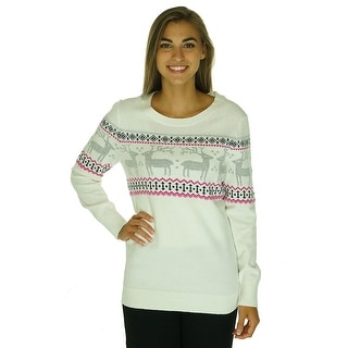 Tommy Hilfiger Long Sleeve Deer Printed Sweater - L