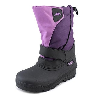 Tundra Quebec Youth Round Toe Synthetic Purple Snow Boot