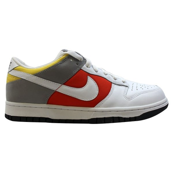caeae17098 Shop Nike Women's Dunk Low White/White-Engine 1-Medium Grey 317813 ...