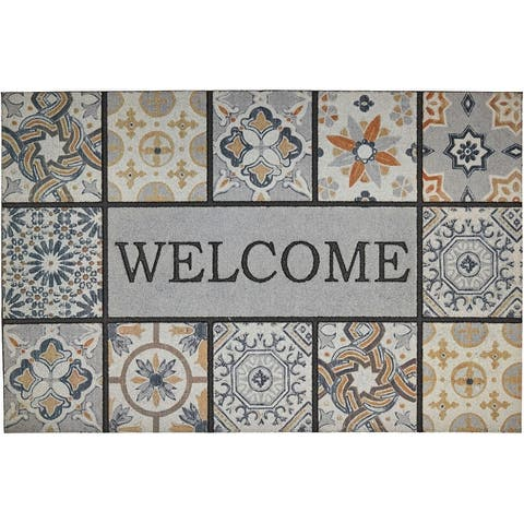 Mohawk Home Doorscapes Welcome Tiles Door Mat