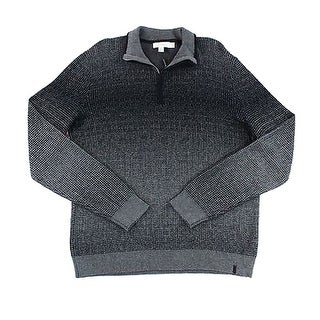 Calvin Klein NEW Gray Black Ombre Men Size Medium M 1/2 Zip Sweater