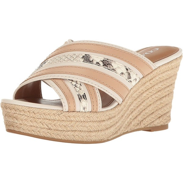 Coach Womens florentine Fabric Open Toe Casual Platform Sandals