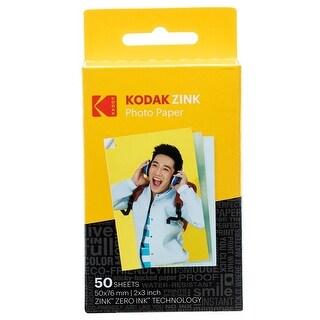"Kodak 2x3"" Sticky-Backed ZINK Photo Paper (50 Sheets) - Compatible With Kodak Printomatic Instant Camera"
