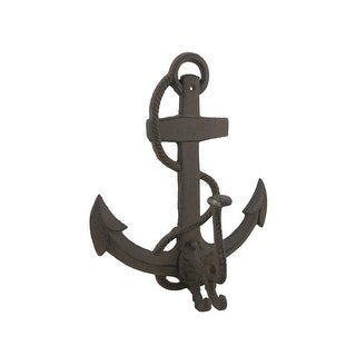 Cast Iron Nautical Anchor Distressed Finish Decorative Wall Hook