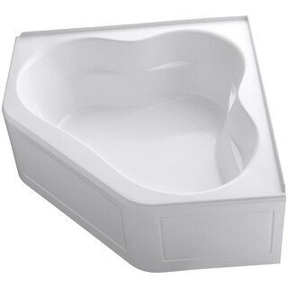 "Kohler K-1161-LA Tercet Collection 60"" Corner Alcove Soaking Bath Tub with Center Drain"