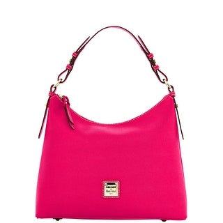 Dooney & Bourke Saffiano Hobo (Introduced by Dooney & Bourke at $228 in Jun 2014) - Hot Pink